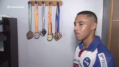 Atleta de São Vicente sonha em ser campeão da luta olímpica - Thaymon Simões, de 17 anos, venceu o campeonato Trials dos Juniores no mês passado.