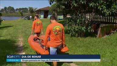 Prefeitura de Piraquara promove remada em lago da cidade - O lago é da Sanepar e abastece Curitiba e Região Metropolitana.