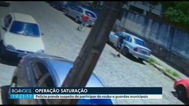 Polícia prende suspeito de participar de roubo a guardas municipais - O roubo foi na sexta-feira (09). Os suspeitos levaram duas armas dos agentes da Guarda Municipal.