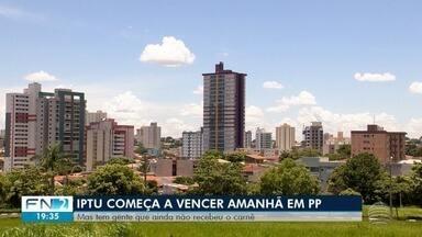 Vencimento dos carnês do IPTU já começa em Presidente Prudente - Contribuintes podem ter acesso à segunda via para realizar o pagamento do tributo municipal.