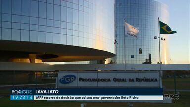 MPF recorre de decisão que soltou o ex-governador Beto Richa - Beto Richa foi solto na semana passada, após determinação do presidente do Superior Tribunal de Justiça.