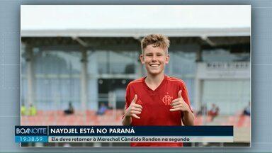 Já chegou ao Paraná o jogador Naydjel Calleb - Ele estava no Centro de Treinamento do Flamengo quando o incêndio começou.