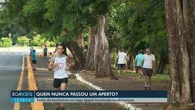 Falta de banheiros no Lago Igapó incomoda londrinenses - Segundo o Instituto de Planejamento, o projeto está em andamento