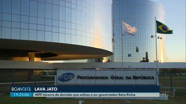 MPF recorre de decisão que soltou o ex-governador Beto Richa - Beto Richa foi solto após determinação do presidente do STJ.