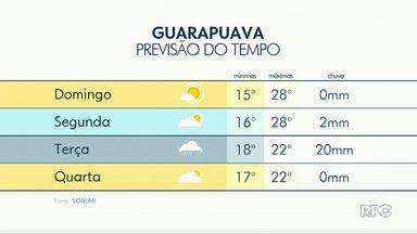 Sol deve brilhar nas cidades da região de Guarapuava neste domingo (10) - A máxima pode chegar a 28 graus na maioria das cidades.