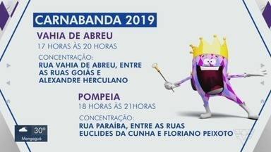 Carnabanda terá mais desfiles neste sábado (9) - Bandas Vahia de Abreu e Pompéia farão a alegria de foliões nas ruas de Santos.
