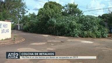 Vila Elisa é um dos bairros que devem ser recapeados em 2019, em Ribeirão - Moradores e motoristas reclamam das más condições das ruas.