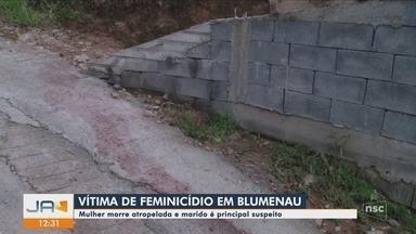 Mulher morre após ser atropelada em Blumenau; ex-companheiro é suspeito do crime - Mulher morre após ser atropelada em Blumenau; ex-companheiro é suspeito do crime