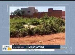 Vc no MG: Moradores de Montes Claros, Pirapora e São Francisco enviam denúncias - Moradores do Bairro Independência reclamam da falta de asfalto.