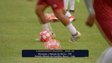 Noroeste enfrenta o Taboão da Serra em Bauru pela Série A3 - De olho na liderança da A3 do Campeonato Paulista, as equipes jogam nesta quarta-feira (13), às 19h, no estádio Alfredo de Castilho, em Bauru.
