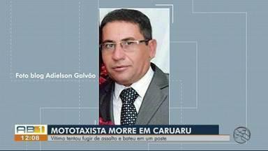 Mototaxista morre após colidir com poste em Caruaru - Vítima morava no José Liberato, mas tinha pego uma corrida para a Rendeiras.
