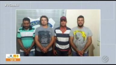 Polícia prende quatro pessoas suispeitas de participar de uma quadrilha de roubo de gados - Os animais eram vendidos para matadouros clandestinos