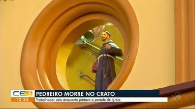 Estrutura desaba e pedreiro morre dentro de igreja no Crato - Confira outras notícias no g1.globo/ce