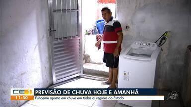 Previsão de mais chuva preocupa moradores do bairro Quintino Cunha - Confira outras notícias no g1.globo/ce