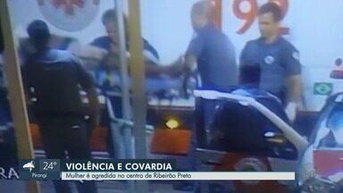 Mulher espancada no Centro de Ribeirão Preto segue internada na Santa Casa - Vítima e dois agressores são moradores de rua.
