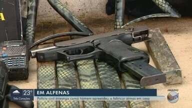 Polícia de Alfenas (MG) investiga como homem aprendeu a fabricar armas - Polícia de Alfenas (MG) investiga como homem aprendeu a fabricar armas