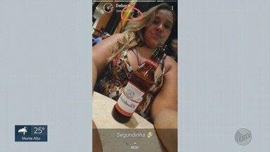 Horas antes de acidente com morte, motociclista postou foto com cerveja em Sertãozinho - Colisão matou Ruth Seixas de Oliveira, de 29 anos.