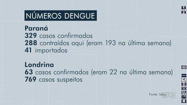 Casos de dengue aumentam no Paraná - Foram 105 a mais em uma semana. Lupionópolis entrou na lista de cidades com epidemia.