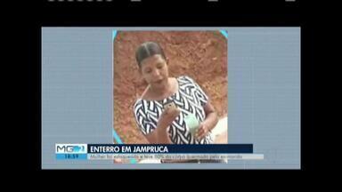 Mulher que teve corpo queimado por ex-companheiro é enterrada em Jampruca - Jocilene Alves, 36 anos, teve corpo queimado e foi esfaqueada; crime ocorreu em janeiro e o filho do casal também sofreu ataque e segue internado com queimaduras em 54% do corpo.
