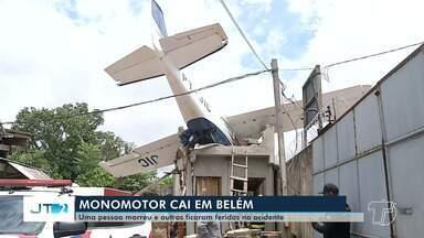 Aeronave cai dentro de residência no bairro Bengui, em Belém - O monomotor com capacidade para até cinco pessoas transportava duas no momento do acidente. Uma delas morreu.