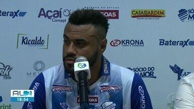 CSA apresenta centroavante para temporada de 2019 - Cassiano tem 29 anos e estava no Paysandu.