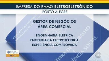Empregos: empresa do ramo eletroeletrônico tem vaga aberta - Veja mais detalhes.