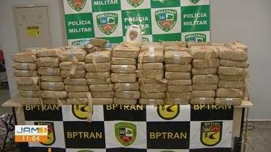 Homem foi preso por transportar entorpecente de Iranduba até Manaus, no AM - Mais de 200kg de drogas foram encontrados dentro de carro
