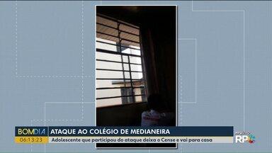 Adolescente que participou do ataque a escola em Medianeira deixa o Cense e vai para casa - O garoto de 15 anos estava cumprindo medida socioeducativa por tentativa de homicídio e resistência à prisão.