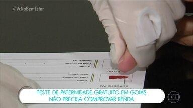 Tribunal de Justiça de Goiás disponibiliza 1,5 mil testes gratuitos de DNA - O programa criado pelo Conselho Nacional de Justiça oferece testes para reconhecimento de paternidade de graça. A mãe ou o filho podem indicar quem seria o suposto pai. O resultado sai em três dias.