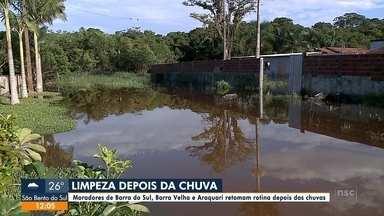Moradores de Barra do Sul e Araquari retomam rotina depois dos alagamentos - Moradores de Barra do Sul e Araquari retomam rotina depois dos alagamentos