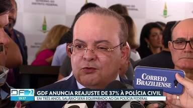 Ibaneis anuncia reajuste de 37% à Polícia Civil - Percentual será pago em três anos, com impacto de R$ 96 milhões já em 2019. Com o aumento, salários serão equiparados aos da Polícia Federal, uma reivindicação antiga da categoria.