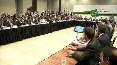 Reforma da Previdência é o principal tema do Fórum de Governadores - Brasília reuniu os 27 governadores atentos aos detalhes da proposta. Um dos itens que mais pesa nas contas públicas é o pagamento de benefícios da Previdência.