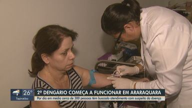 2º Dengário começa a funcionar nesta segunda em Araraquara - Cerca de 300 pessoas têm buscado atendimento com suspeite de dengue na cidade.