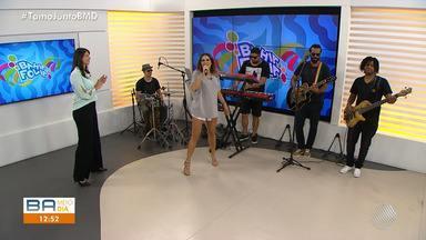 Alinne Rosa é a convidada do estúdio do BMD desta segunda-feira (25) - Cantora falou sobre as novidades do carnaval.