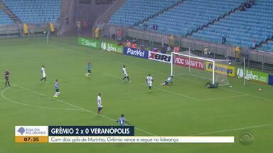 Marinho brilha e Grêmio vence por 2x0 de Veranópolis - Assiste ao vídeo.