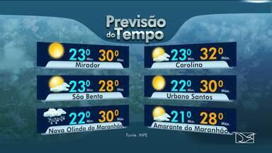 Veja as variações das temperaturas no Maranhão - Confira a previsão do tempo nesta quinta-feira (28) em São Luís e também no interior do estado.