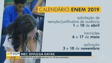 Datas do Enem 2019 são definidas; confira - Este ano, as provas acontecem nos dias 3 e 10 de novembro. Veja as datas para não perder os prazos.
