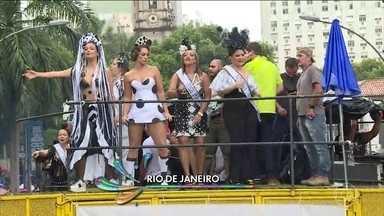 Cordão da Bola Preta arrasta foliões no Rio - Expectativa é de que 1 milhão de pessoas estiveram no centro da cidade.