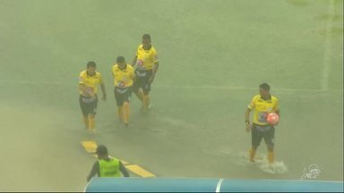Jogo em Sobral é cancelado devido à chuva - Jogo em Sobral é cancelado devido à chuva