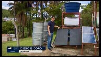 Fabricação de aquecedor de baixo custo é ensinada de forma gratuita em Formiga - Economia com equipamento criado por estudantes e professores do Instituto Federal de Minas Gerais (IFMG) pode chegar em até 40%.