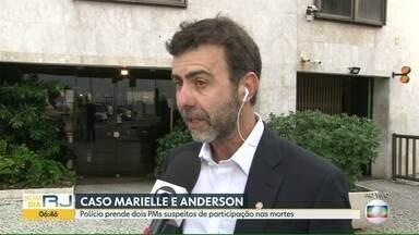 Marcelo Freixo comenta prisão de suspeitos de matar Marielle Franco - Deputado federal esteve nas buscas de suspeito na internet.