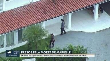 Suspeitos foram presos quando saíam de casa, nesta terça-feira (12) - Suspeitos foram presos quando saíam de casa, nesta terça-feira (12).