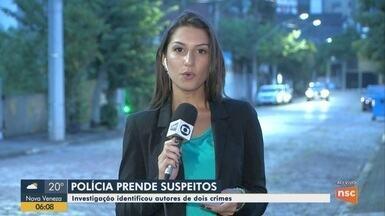 Polícia Militar prende autores de dois crimes no Vale do Itajaí - Polícia Militar prende autores de dois crimes no Vale do Itajaí
