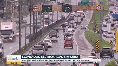 PRF quer tirar lombadas eletrônicas da BR-101 na Grande Florianópolis - PRF quer tirar lombadas eletrônicas da BR-101 na Grande Florianópolis
