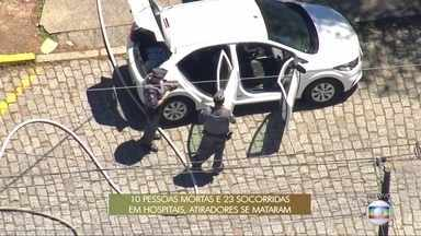 Polícia vistoria carro que possivelmente foi usado pelos atiradores em Suzano - A suspeita é de que possa haver explosivos no interior do veículo