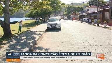 Autoridades definem metas para melhorias na Lagoa da Conceição em Florianópolis - Autoridades definem metas para melhorias na Lagoa da Conceição em Florianópolis