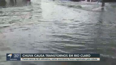 Chuva causa transtornos em Rio Claro - Várias ruas ficaram alagadas e árvores caíram na cidade.