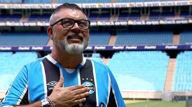 Conheça o torcedor que representa o Grêmio no 'A Cara Do Gauchão' - Confira o quadro #ACaraDoGauchão e acesse globoesporte.com/rs para votar no seu candidato favorito.