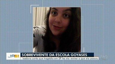 Estudante baleada em escola de Goiânia diz 'reviver' tragédia após massacre em Suzano - Isadora ficou paraplégica.
