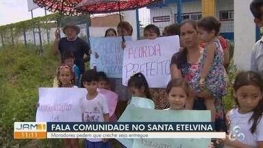 Fala Comunidade Moradores do Santa Etelvina pedem conclusão de obra de creche - Local está abandonado.